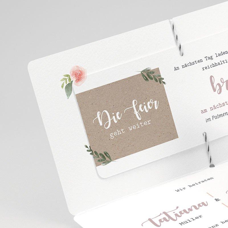 Rustikale Hochzeitseinladungen Apricot & Kraftpapier gratuit
