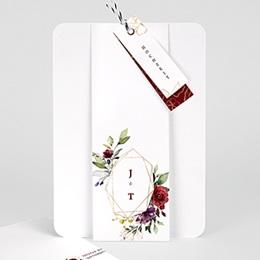 Einladungskarten Hochzeit  Bohemian Marsala
