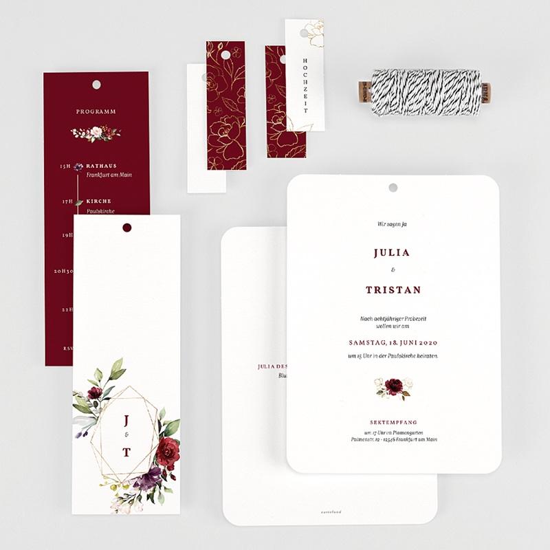 Hochzeitseinladungen Bohemian Marsala gratuit