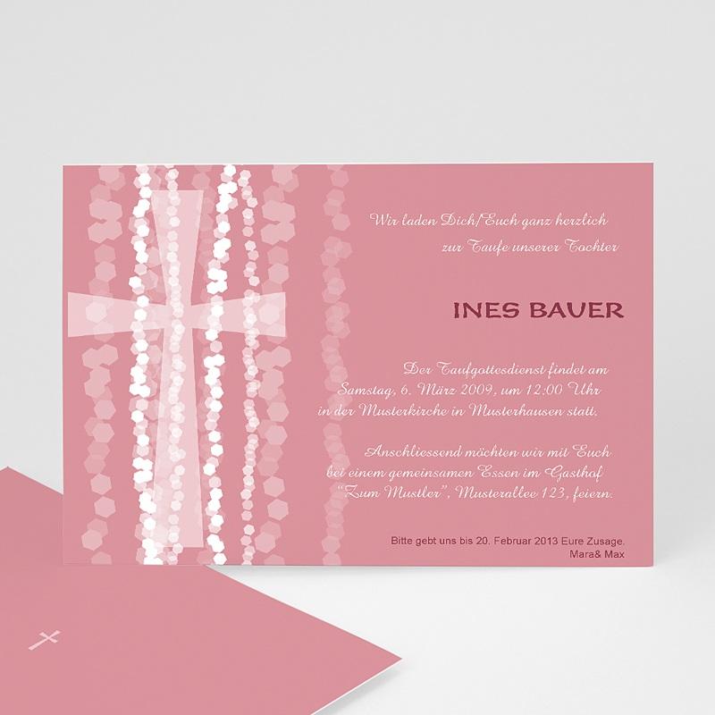 einladungskarten taufe mädchen - pink | carteland.de, Einladungsentwurf