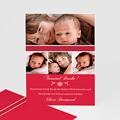 Dankeskarten Geburt Mädchen - Rubinrot 7117 test
