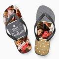 Personalisierte Flip-Flop Flip Flop Christmas