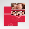 Dankeskarten Geburt Mädchen - Rubinrot 7118 test