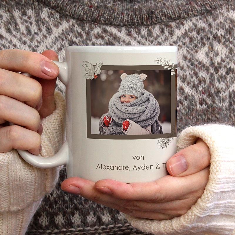 Fototasse Weihnachten - Retro Weihnachten 71182 thumb