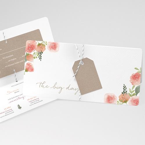 Einladungskarten Landhochzeit - Rustic Chic 71198 thumb