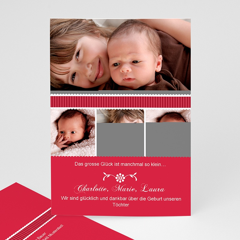 Geburtskarten für Mädchen Cara