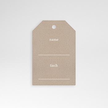 Tischkarten Hochzeit - Rustic Chic - 0