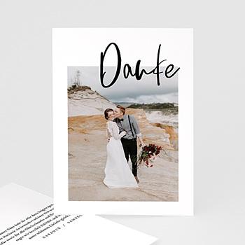 Kreative Dankeskarten Hochzeit  - Brush Schrift - 0