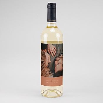 Flaschenetiketten Wein Calligraphie Zimt