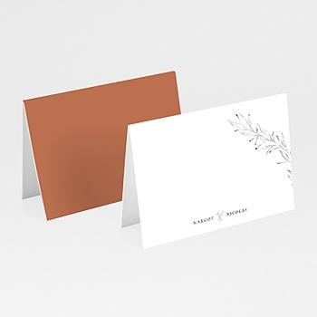 Tischkarten Hochzeit - Calligraphie Zimt - 0