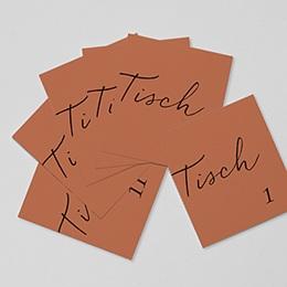 Tischnummer Calligraphie Zimt