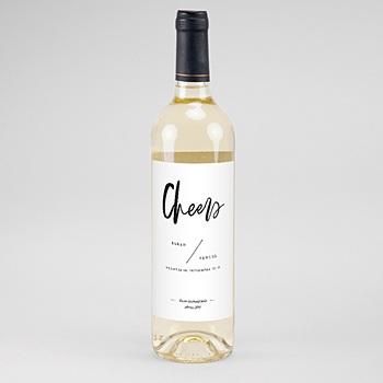 Flaschenetiketten Wein - Brush Schrift - 0
