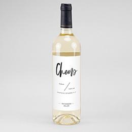 Flaschenetiketten Wein Brush Schrift