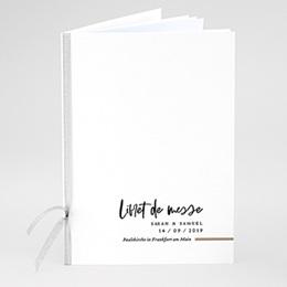 Kirchenheft zur Hochzeit individuell gestalten Brush Schrift