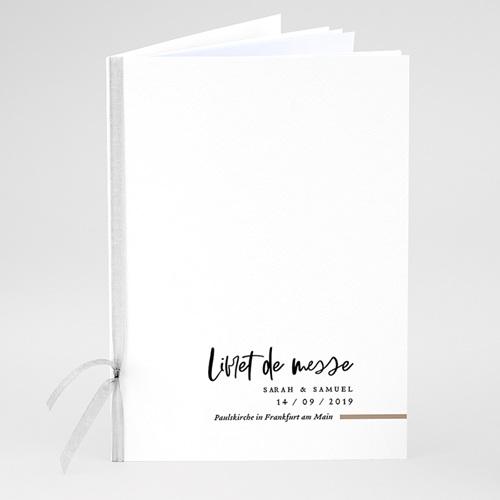 Kirchenheft Hochzeit Brush Schrift