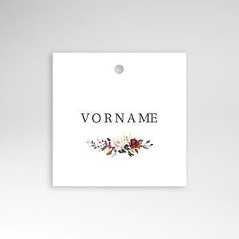Tischkarten Hochzeit - Marsala Krone - 0