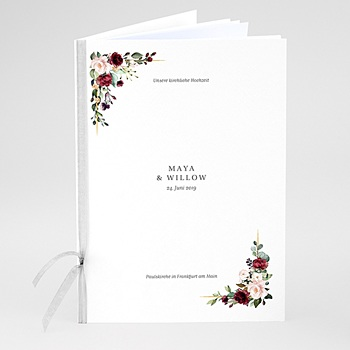 Kirchenheft zur Hochzeit individuell gestalten - Marsala Krone - 0