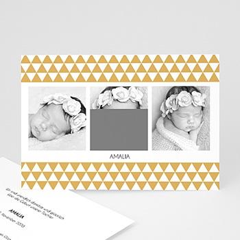 Geburtskarten für Mädchen - Multi-Fotos 3 - Retro - 1