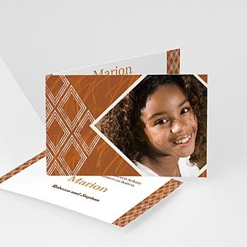 Adoptionskarten für Mädchen - Ebenholz - 1