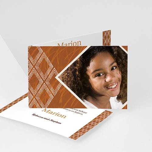Adoptionskarten für Mädchen Ebenholz