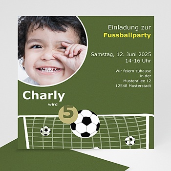 Geburtstagseinladungen Jungen - Fussballparty - 1