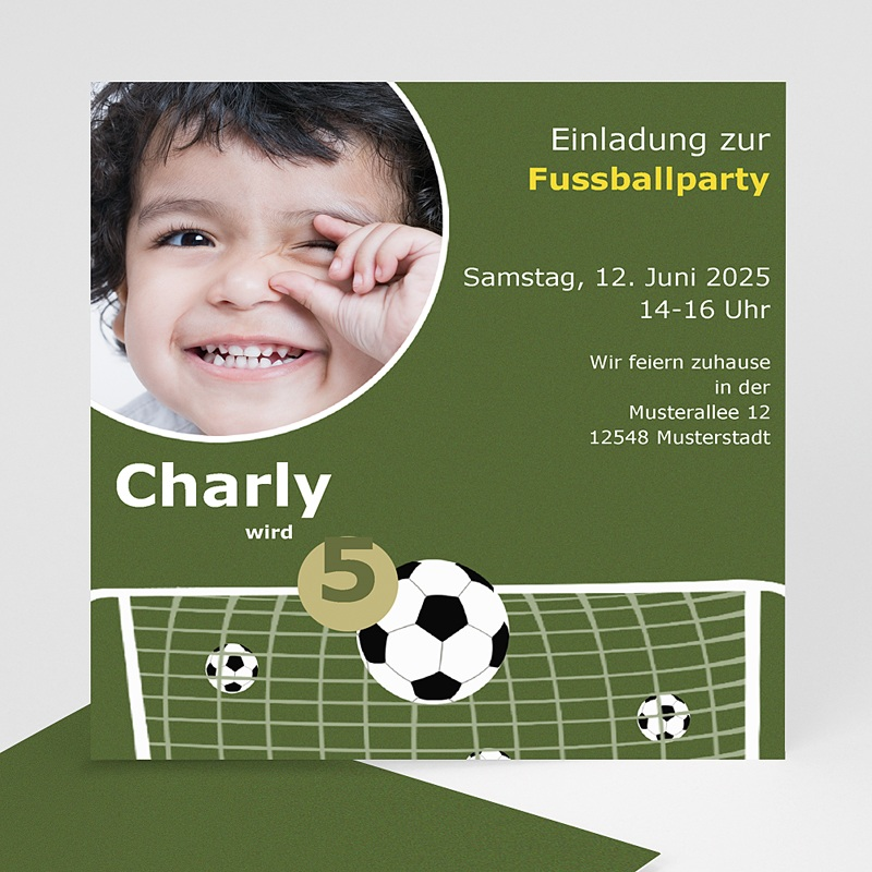 Geburtstagseinladungen Jungen - Fussballparty 7171 thumb