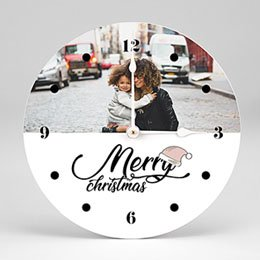 Fotouhr individuell gestalten Merry Christmas