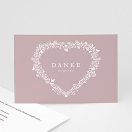 Danksagungskarten Hochzeit  - Hochzeitskarte Herz - 1