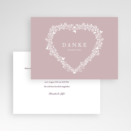 Hochzeitskarte Herz - 2 thumb