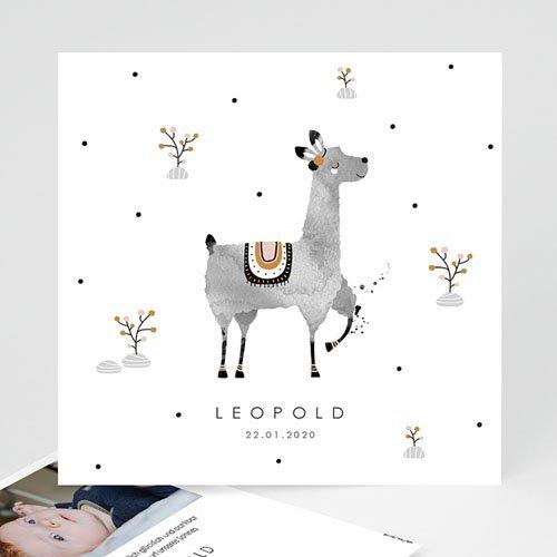 Geburtskarten für Junge Lama Aquarell