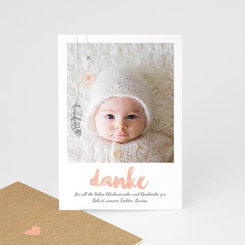 Dankeskarten Geburt Mädchen Traumfänger Girly