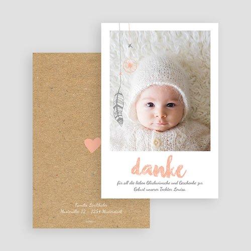 Dankeskarten Geburt Mädchen Traumfänger Girly gratuit