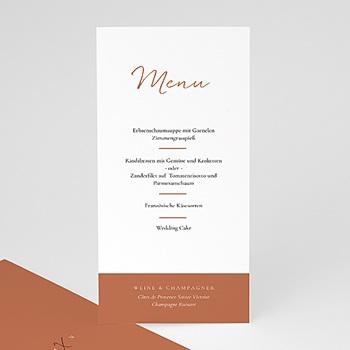 Menükarten Hochzeit - Calligraphie Zimt - 0