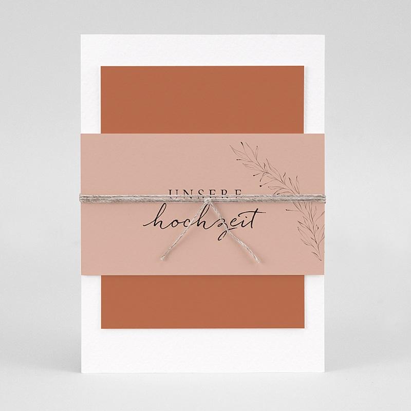 Hochzeitseinladungen Calligraphie Zimt pas cher