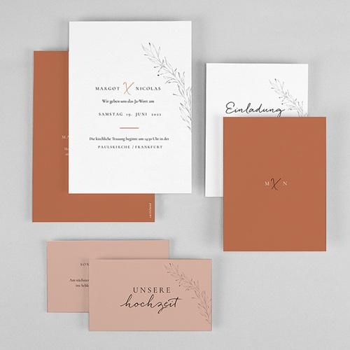 Hochzeitseinladungen Calligraphie Zimt gratuit