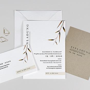 Einladungskarten Landhochzeit - Naturhochzeit - 0