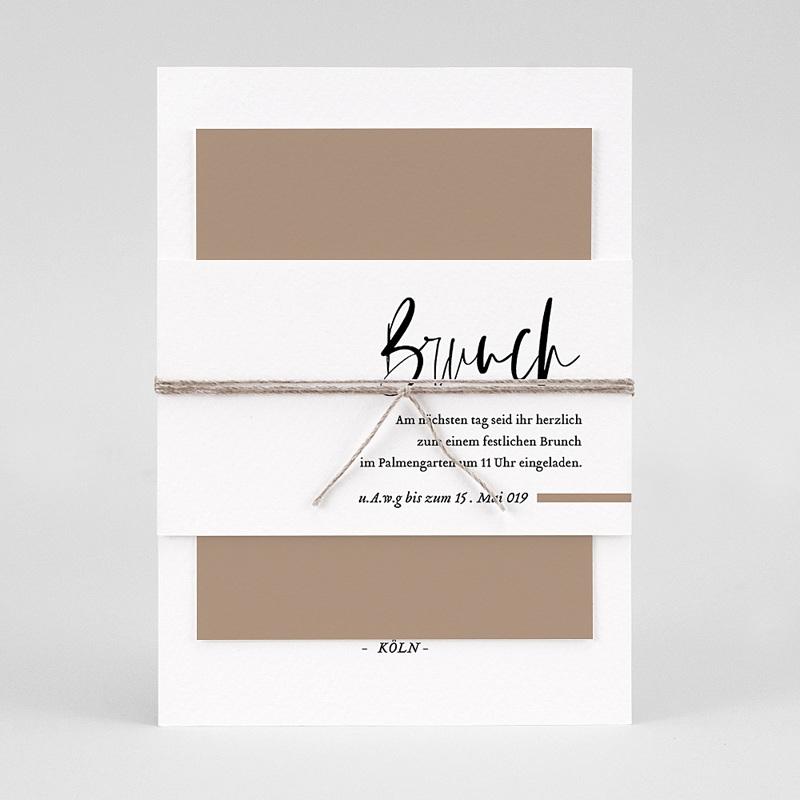 Hochzeitseinladungen Brush Schrift pas cher