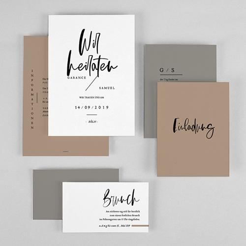 Hochzeitseinladungen Brush Schrift gratuit