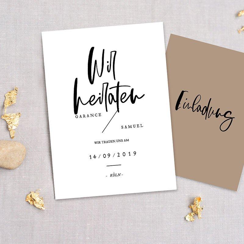 Kreative Hochzeitskarten - Brush Schrift 72290 thumb
