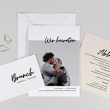 Hochzeitskarten mit Foto - Mastic Majestic - 0