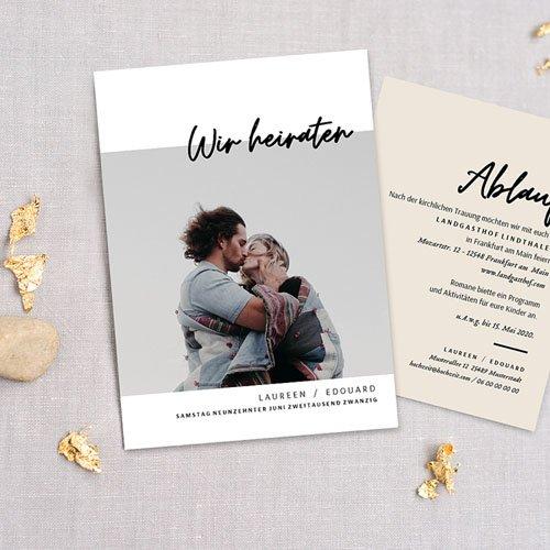 Hochzeitskarten mit Foto - Mastic Majestic 72305 thumb