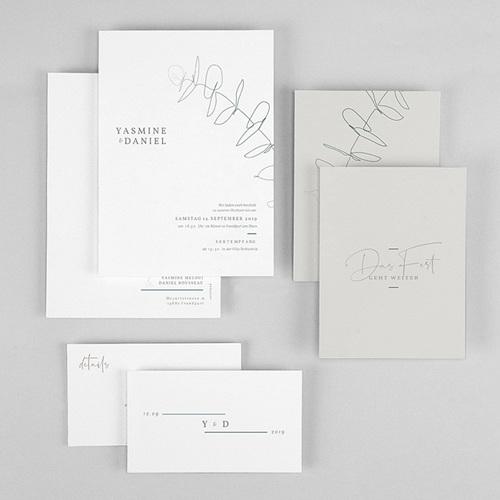 Hochzeitseinladungen Schlicht - Eukalyptus 72318 thumb