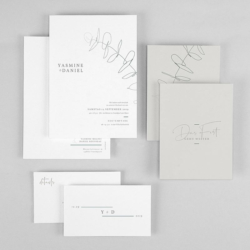 Hochzeitseinladungen Eukalyptus gratuit