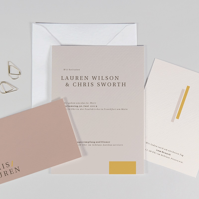 Hochzeitseinladungen Blush & Gold