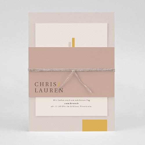Hochzeitseinladungen Blush & Gold pas cher