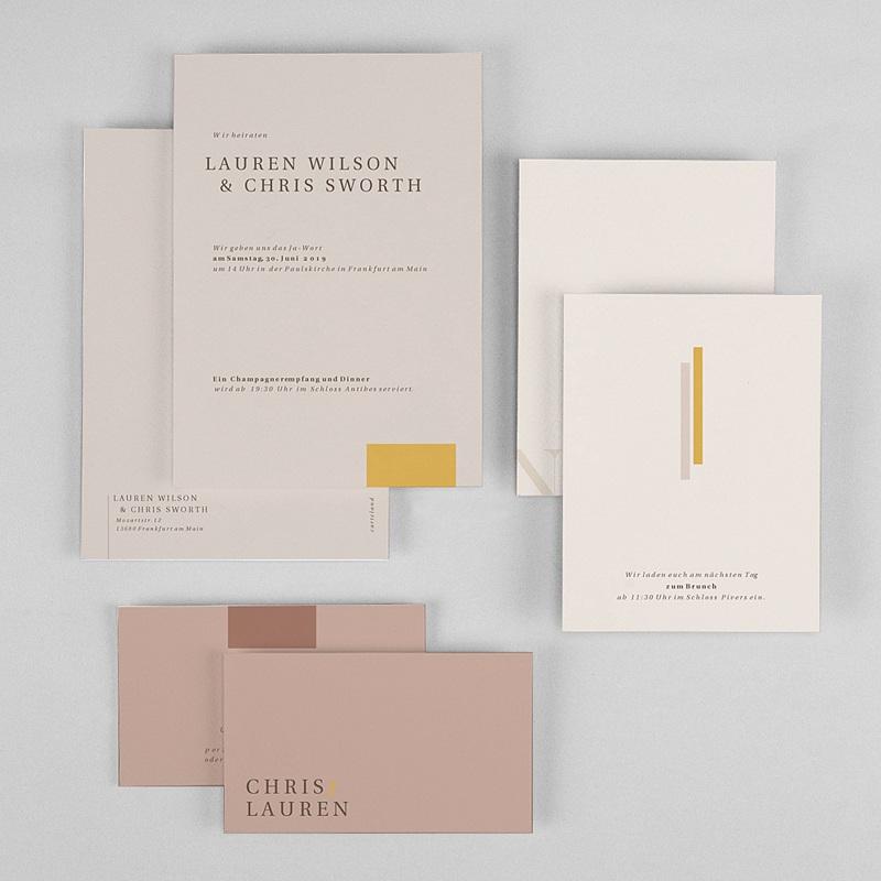 Hochzeitseinladungen Blush & Gold gratuit