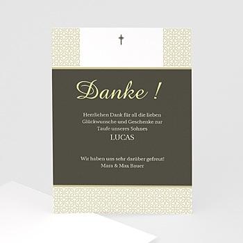 Dankeskarten Taufe Jungen - Taufe Einladungskarte traditionell - 1