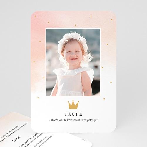 Prinzessin Einladungskarten Taufe Prinzessin