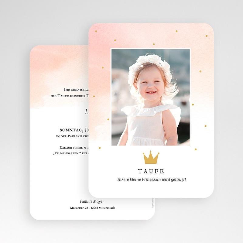 Prinzessin Einladungskarten Taufe Prinzessin gratuit