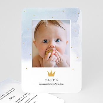 Einladungskarten Taufe Jungen  - Prinz - 0